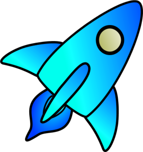 Clipart rocket blue.  collection of high