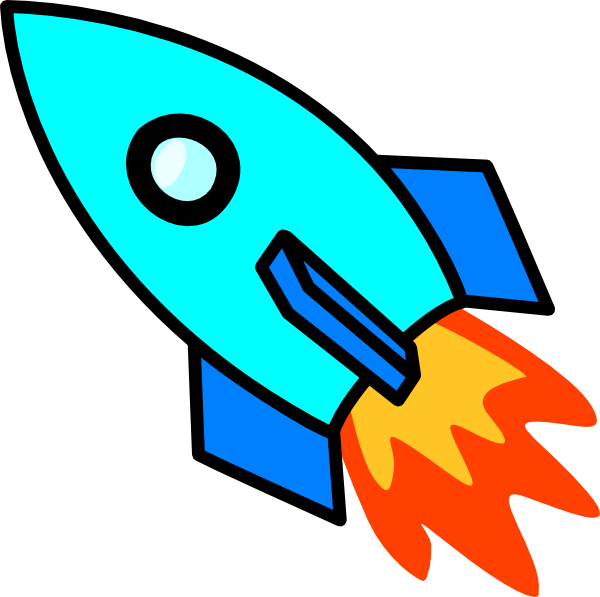 Clipart rocket blue. Light clip art at