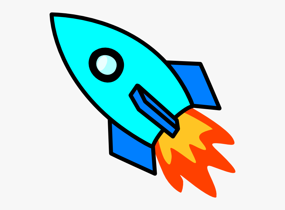 Light clip art at. Clipart rocket blue