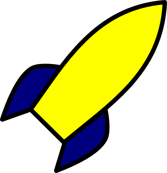 Clipart rocket blue. Yellow clip art at
