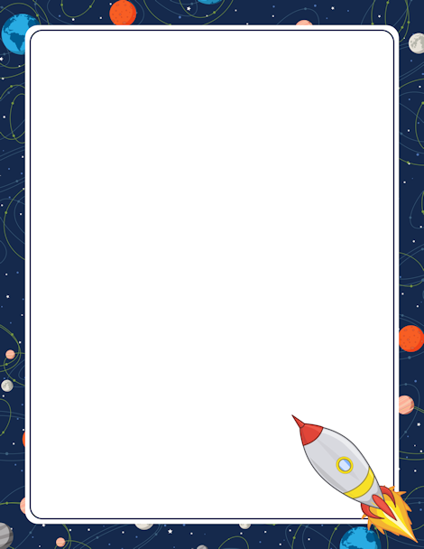 Pin by muse printables. Clipart rocket border