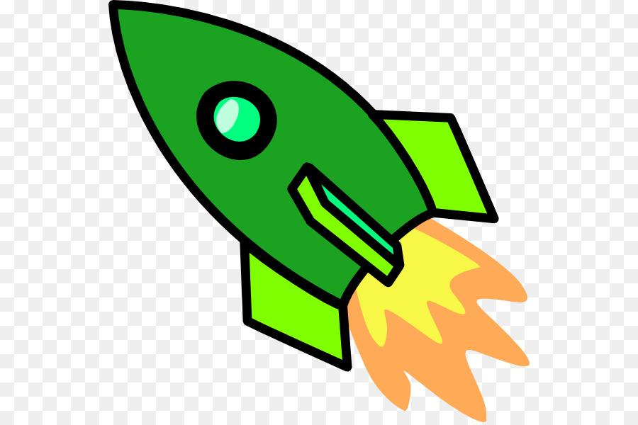 Green leaf background spacecraft. Clipart rocket cartoon