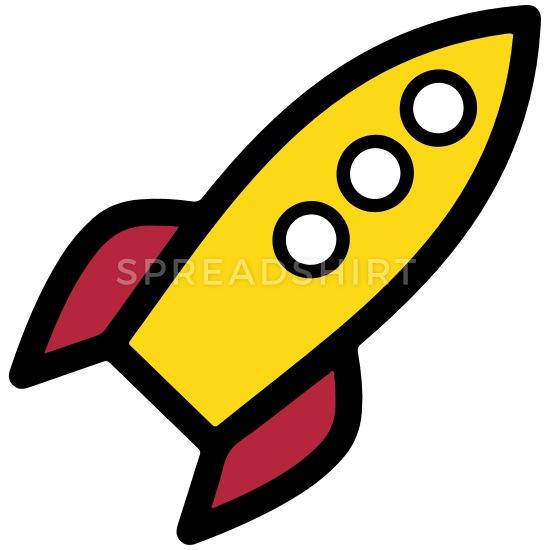 Cartoon space kids t. Clipart rocket childrens