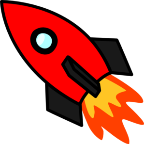 Clipart rocket clip art. Red at clker com