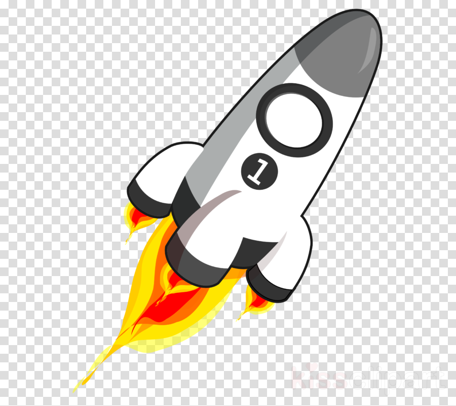 Design background spacecraft line. Clipart rocket clip art