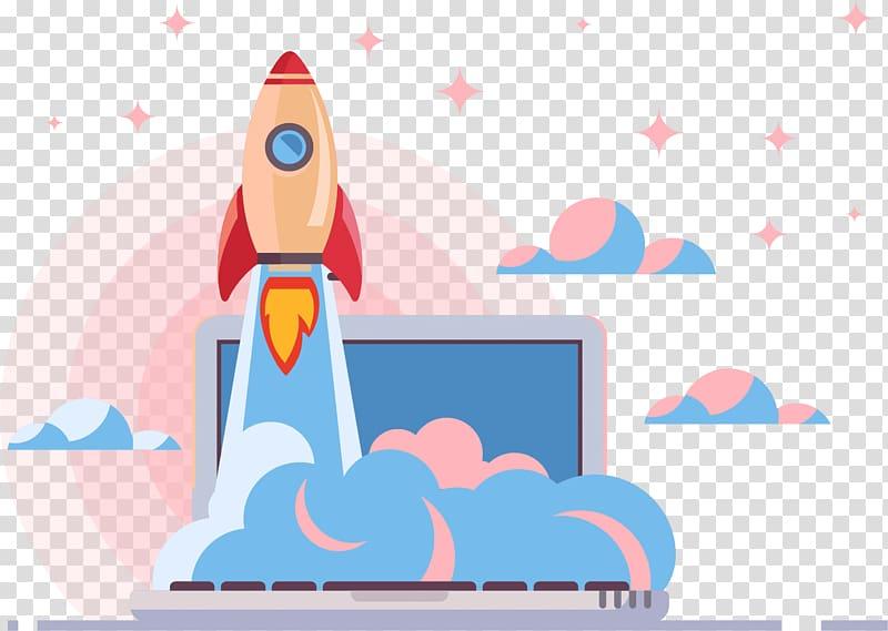 Clipart rocket cloud. Search engine optimization web