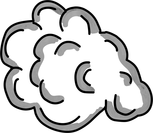 Cartoon smoke png. Cloud rocket left