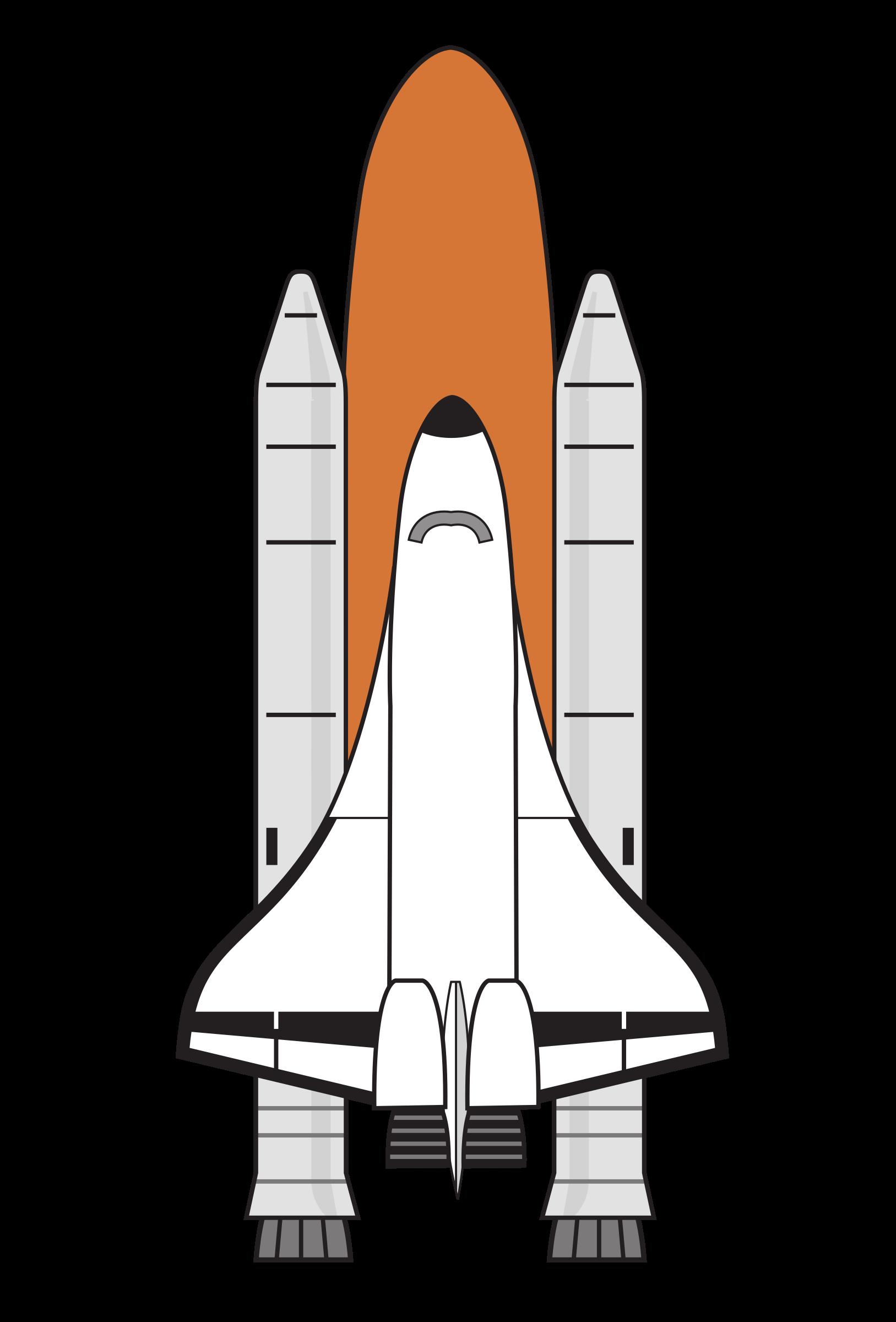 Shuttle boosters big image. Clipart rocket colour