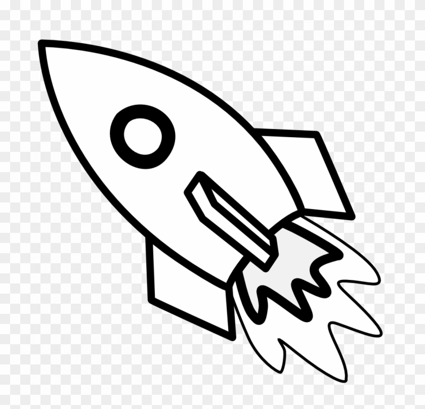 Star wars black and. Clipart rocket colour