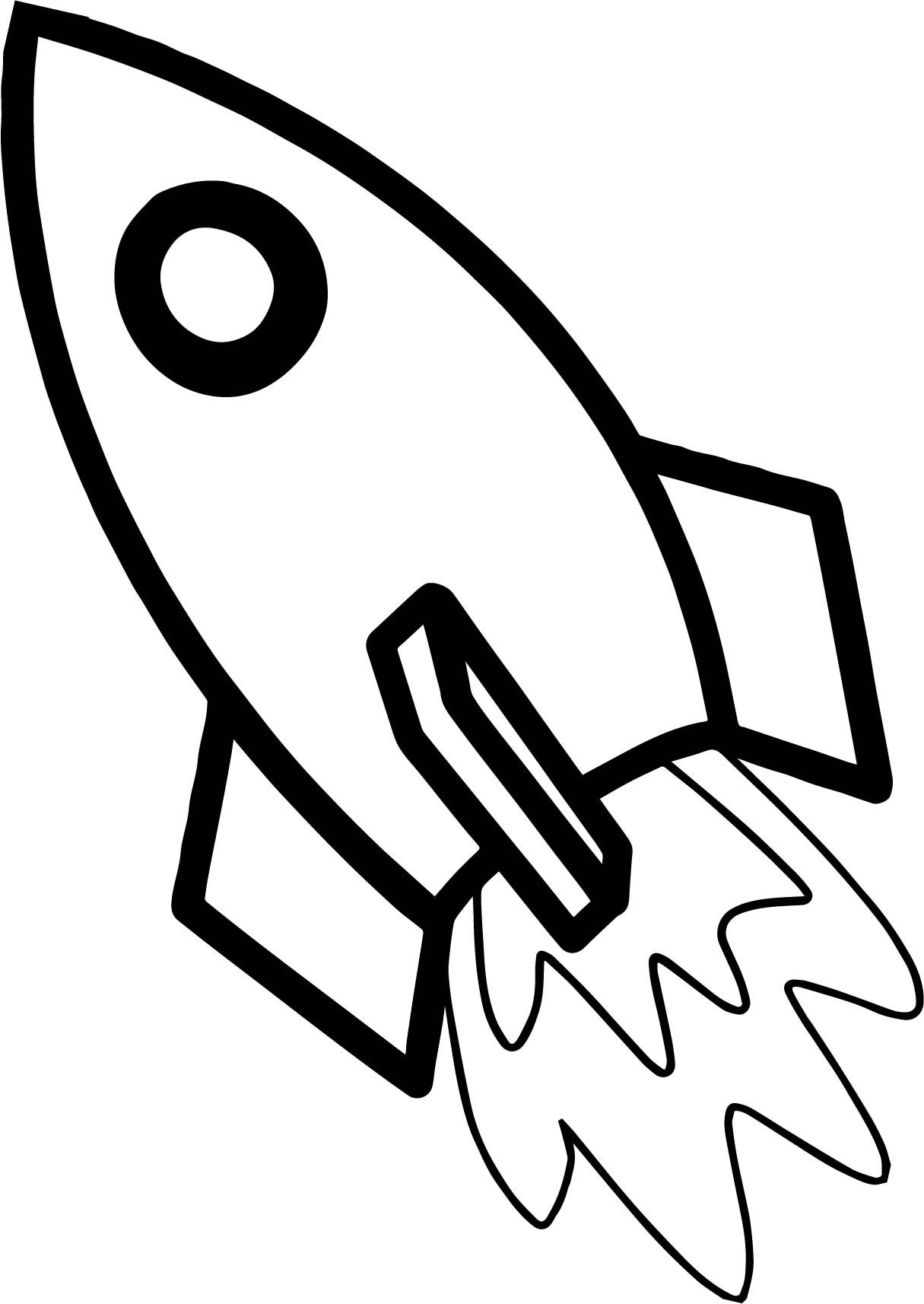 Clipart rocket colouring page. Astronaut coloring education pages