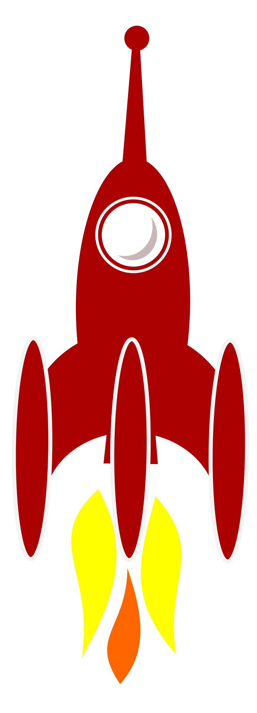 Booster rocket. Spaceship clipart bmp