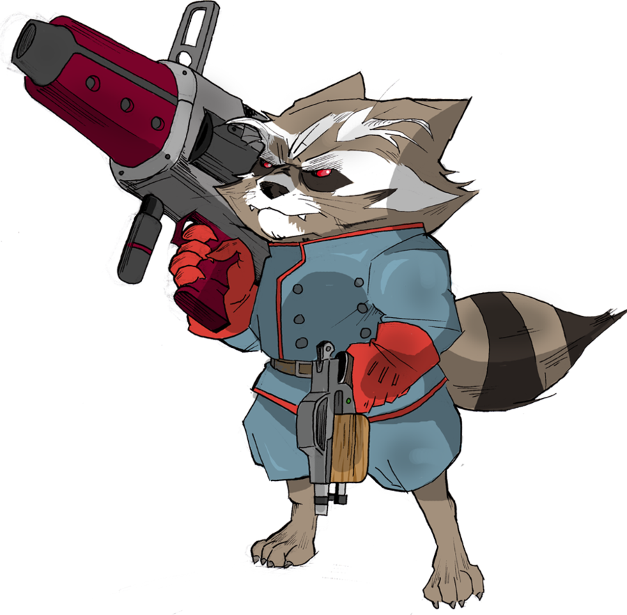The raccoon by egory. Clipart rocket comic