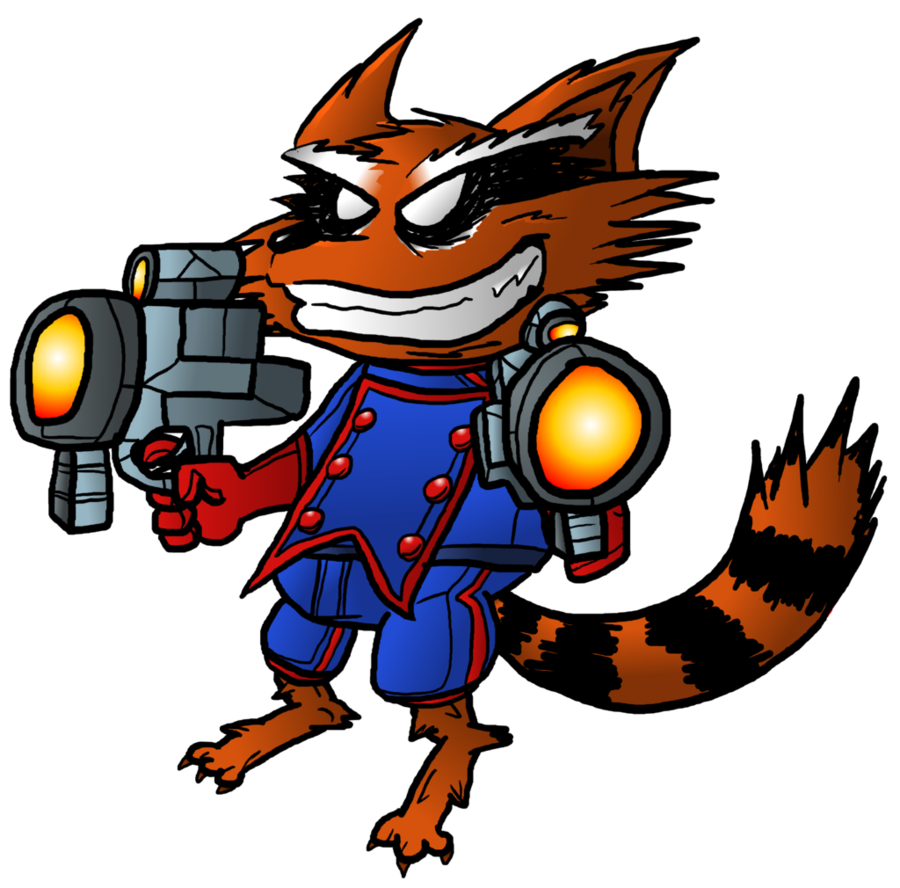 Raccoon by spizzlelep on. Clipart rocket comic