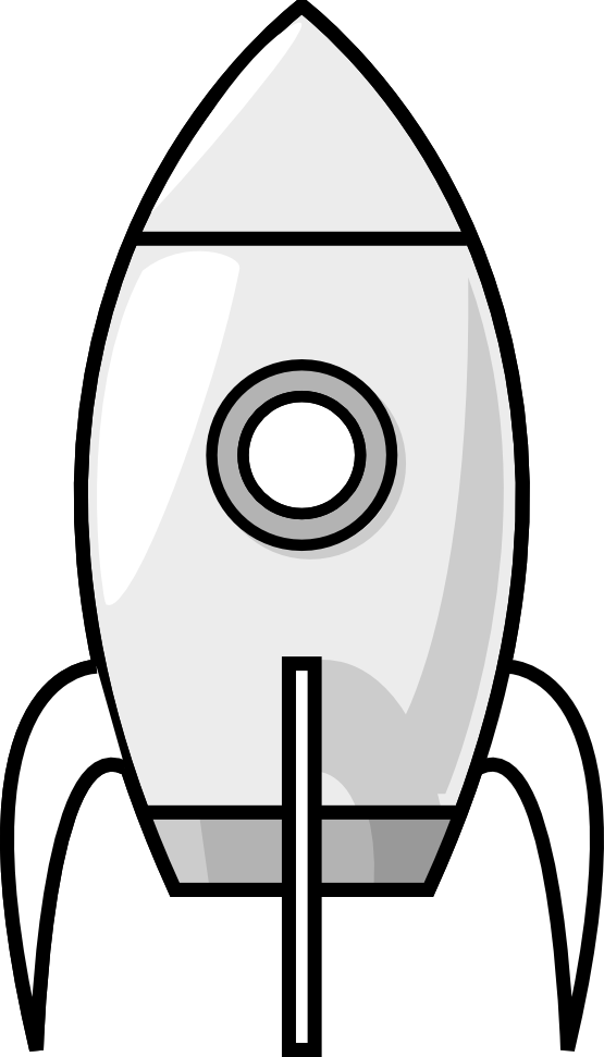 Electronics clipart black and white. Purzen a moon rocket