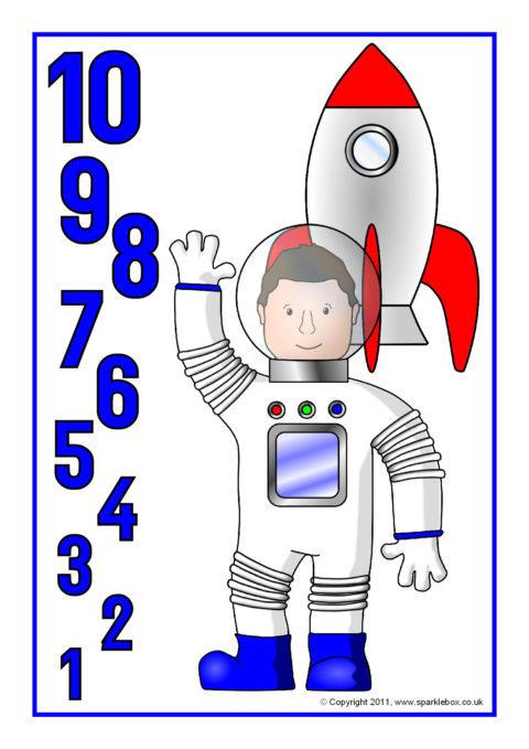 Clipart rocket countdown. Posters sb sparklebox