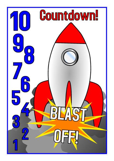 Posters sb sparklebox . Clipart rocket countdown