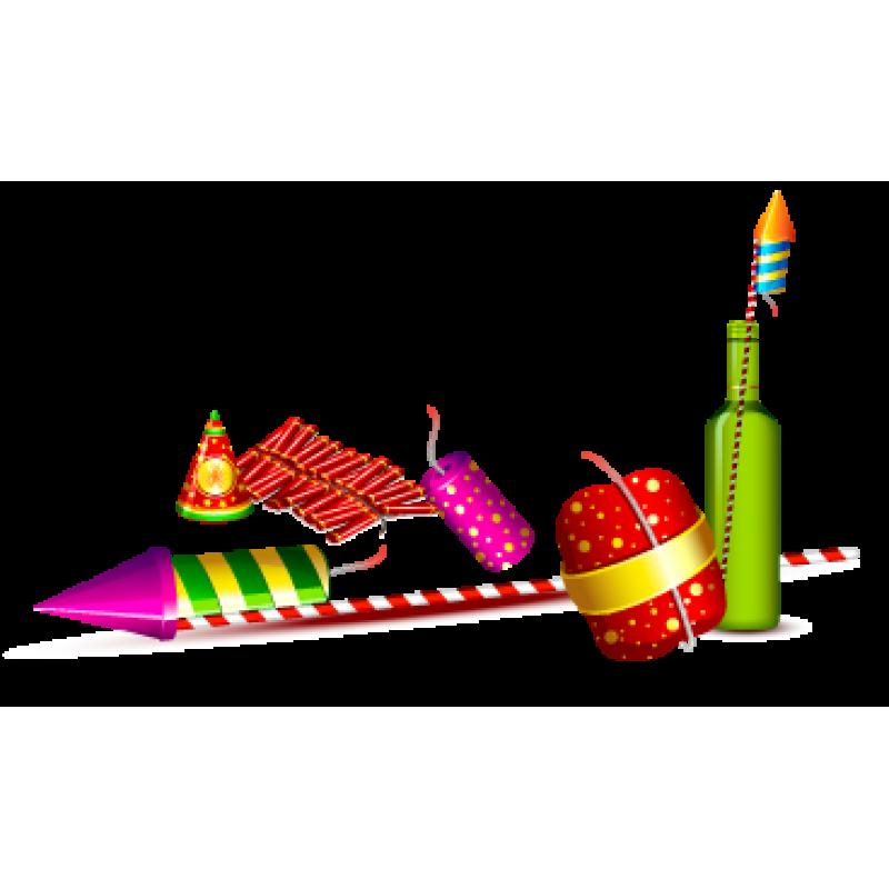 Happy family combo box. Clipart rocket diwali