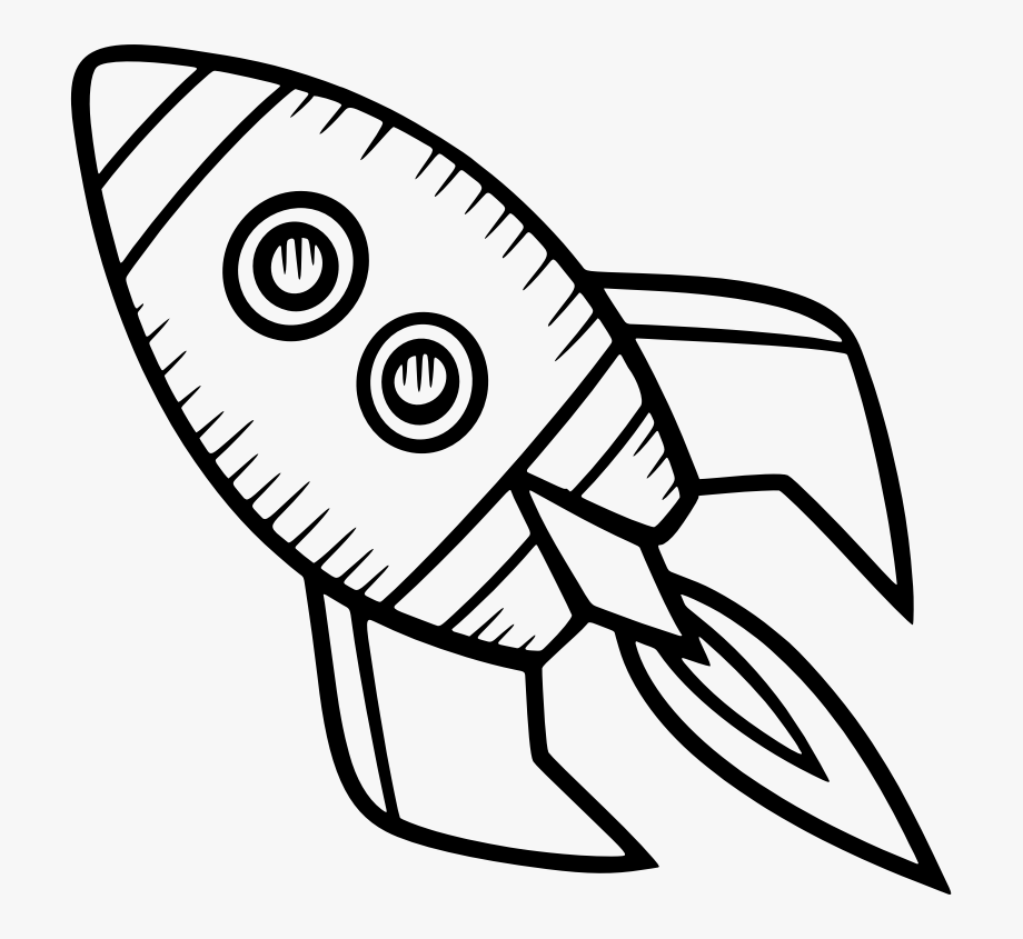 Spaceship clipart simple. Spacecraft drawing rocket clip