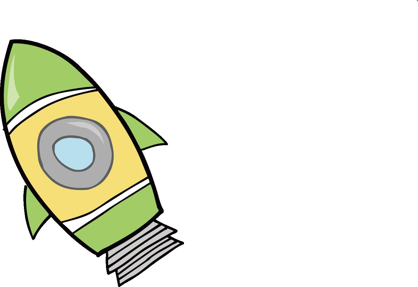 Spaceship clipart fusee. Cartoon rocket drawing at