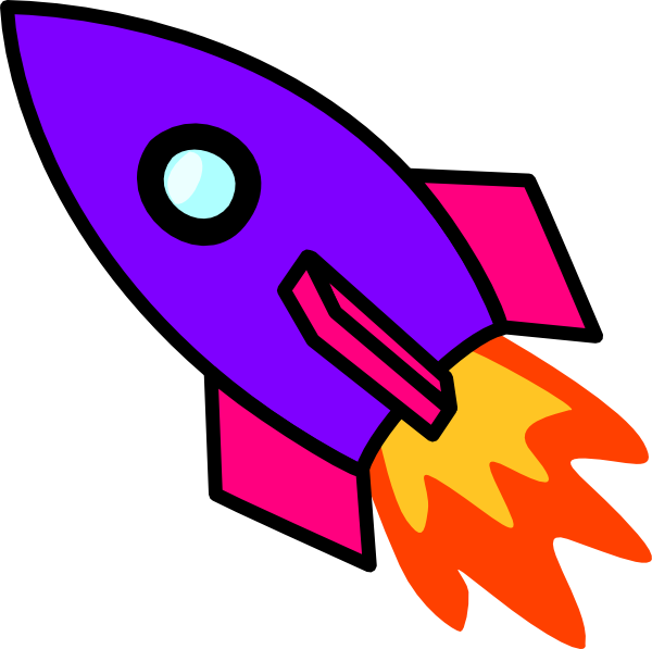 clipart rocket drawing