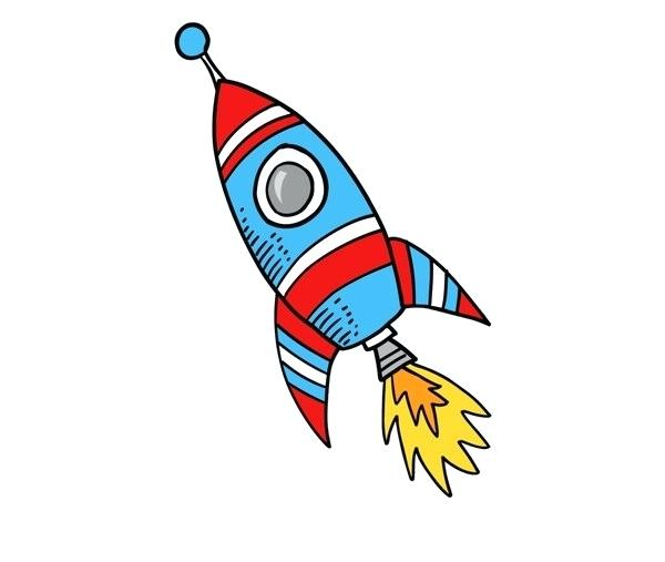 Clipart rocket easy cartoon. Drawing edenolur co