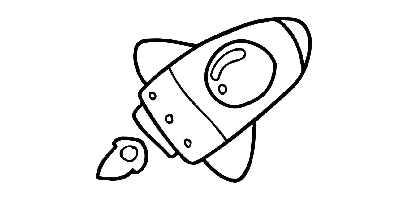 How to draw a. Clipart rocket easy cartoon