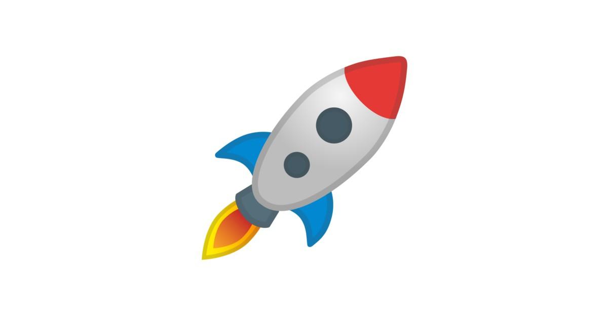 Clipart rocket emoji.