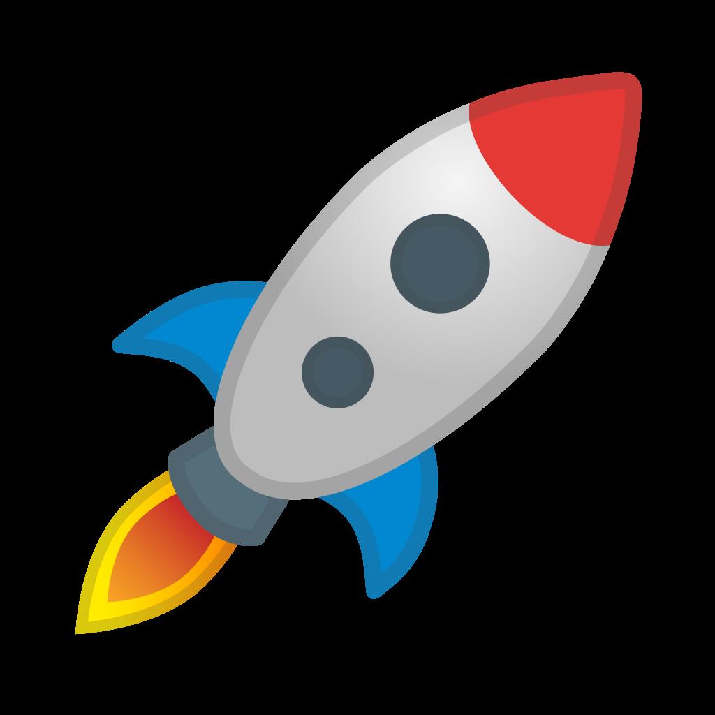 Spaceship clipart ico. Rocket icon noto emoji