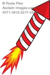 Clipart rocket firework. Royalty free illustration of