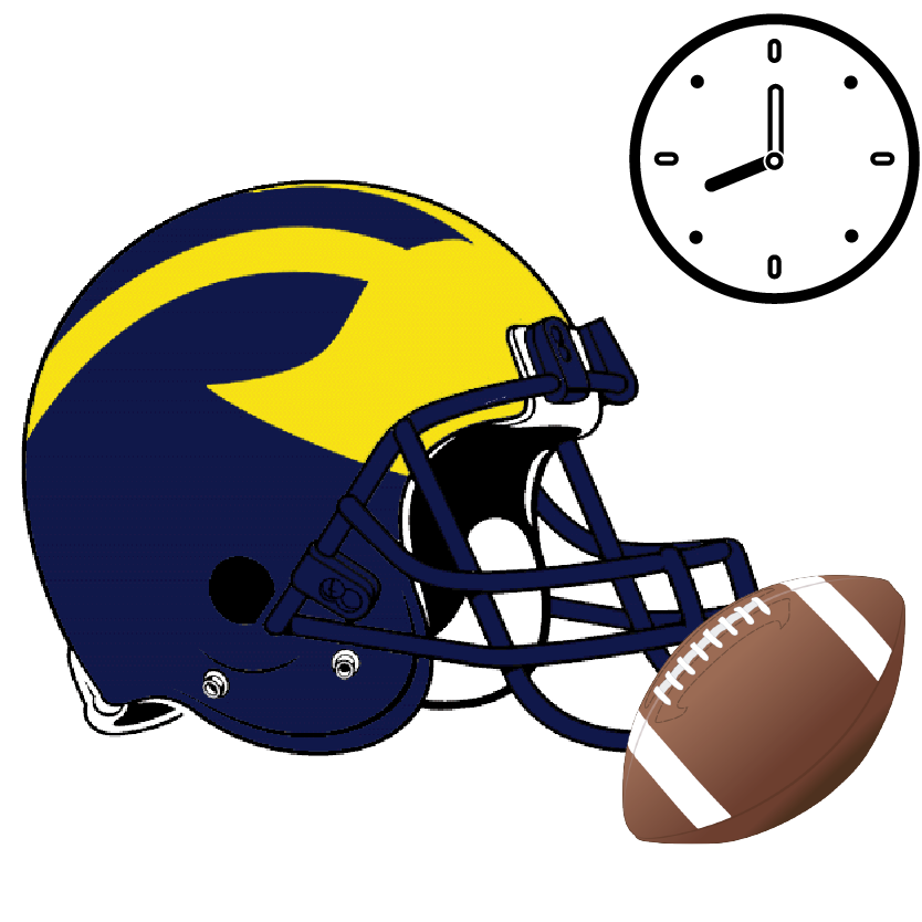 Important clipart itinerary. Michigan game day daytripper