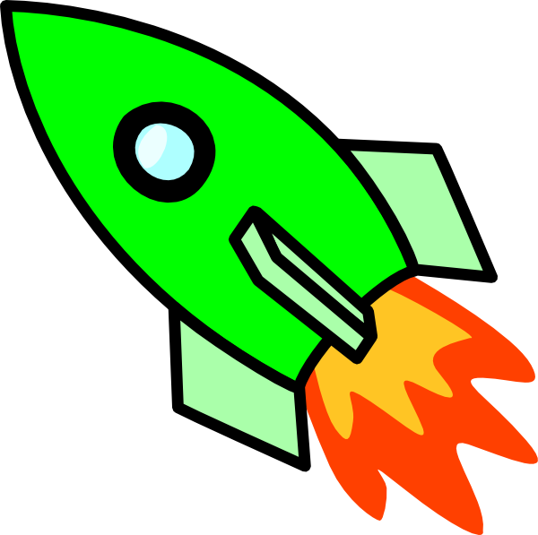 Clipart rocket fourth july. Green clip art at