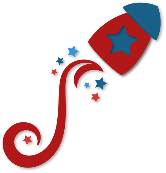 Floursh snapdragon snippets. Clipart rocket fourth july