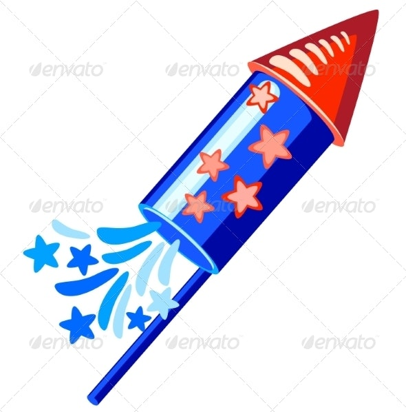 th of blue. Clipart rocket fourth july