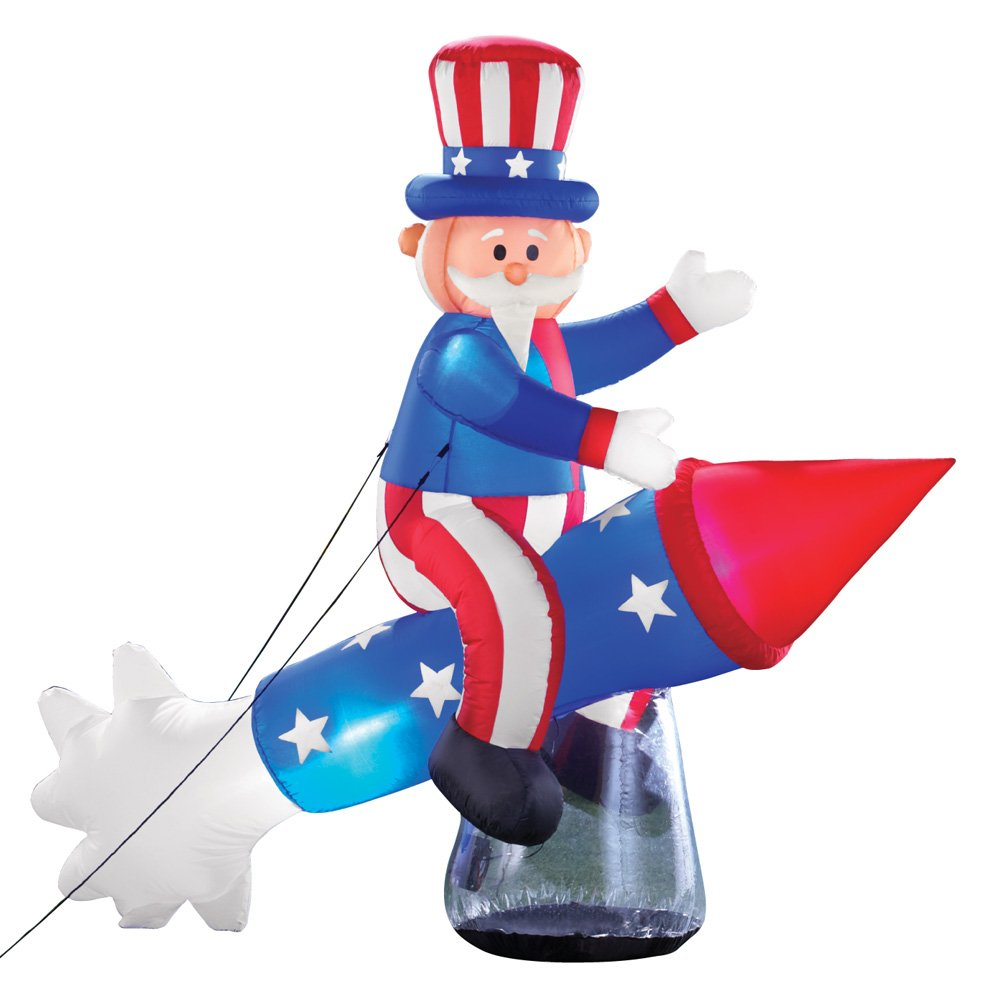 Clipart rocket fourth july. Collections etc inflatable patriotic