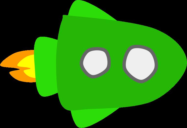 Clipart rocket future. Green spaceship medium image
