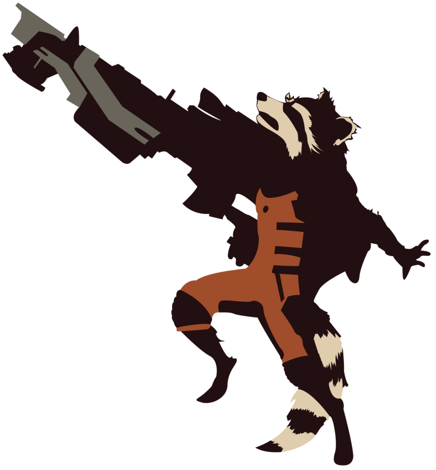 Clipart rocket guardians the galaxy. Raccoon silhouette at getdrawings