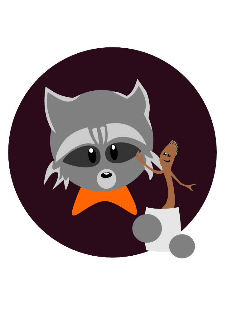 Clipart rocket guardians the galaxy. Groot and raccoon by