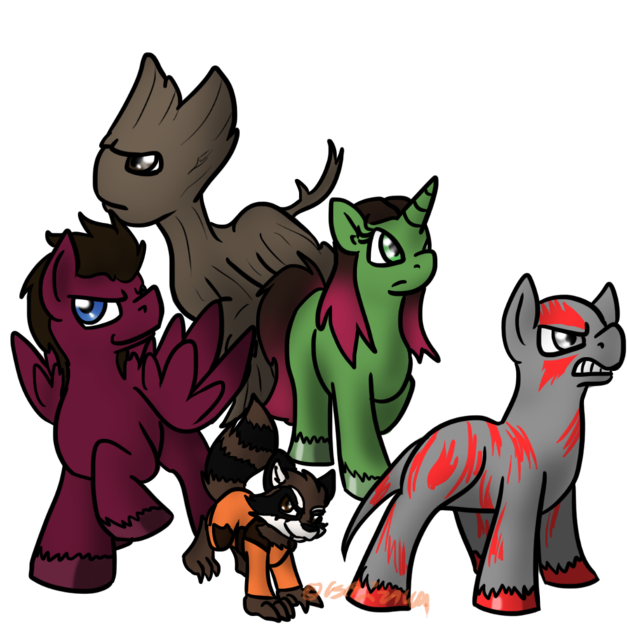 Clipart rocket guardians the galaxy. Of pony by usagi