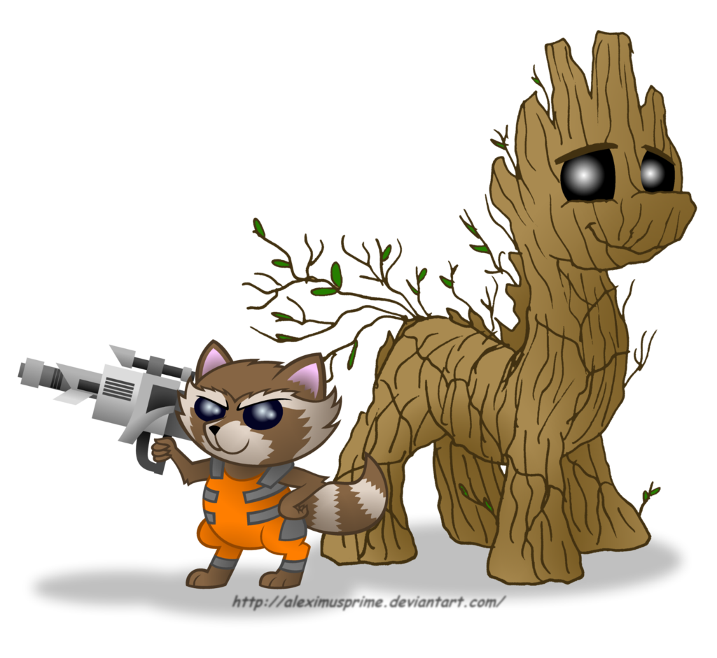 And groot in equestria. Clipart rocket guardians the galaxy