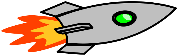 Blasting space sci fi. Clipart rocket horizontal