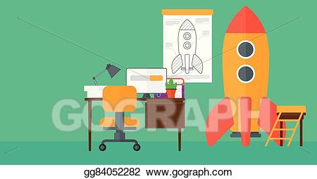 Eps vector background of. Clipart rocket horizontal