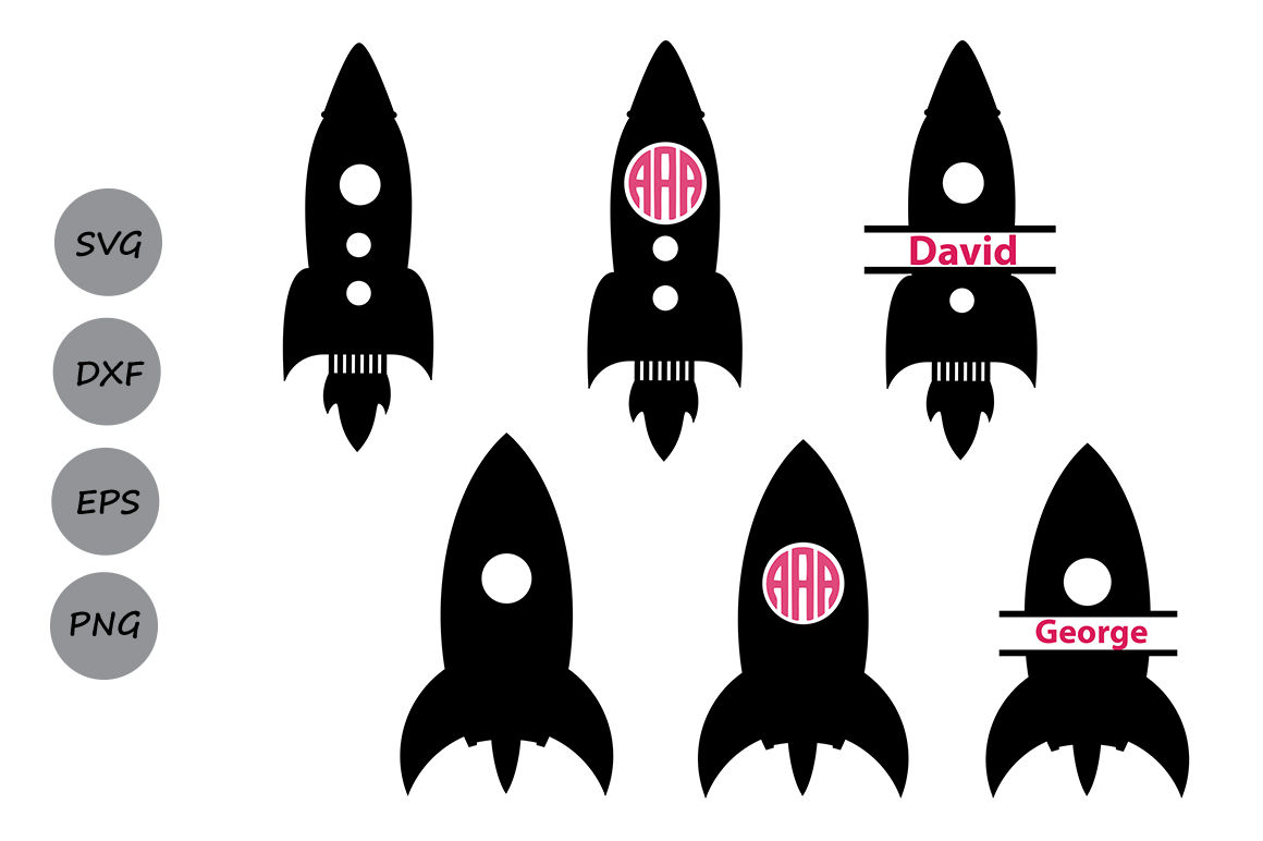 Clipart rocket jpeg. Svg monogram frames