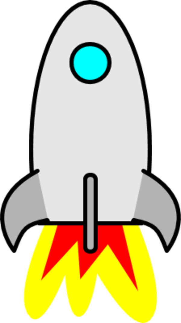 Cartoon rocketship image group. Clipart rocket launched