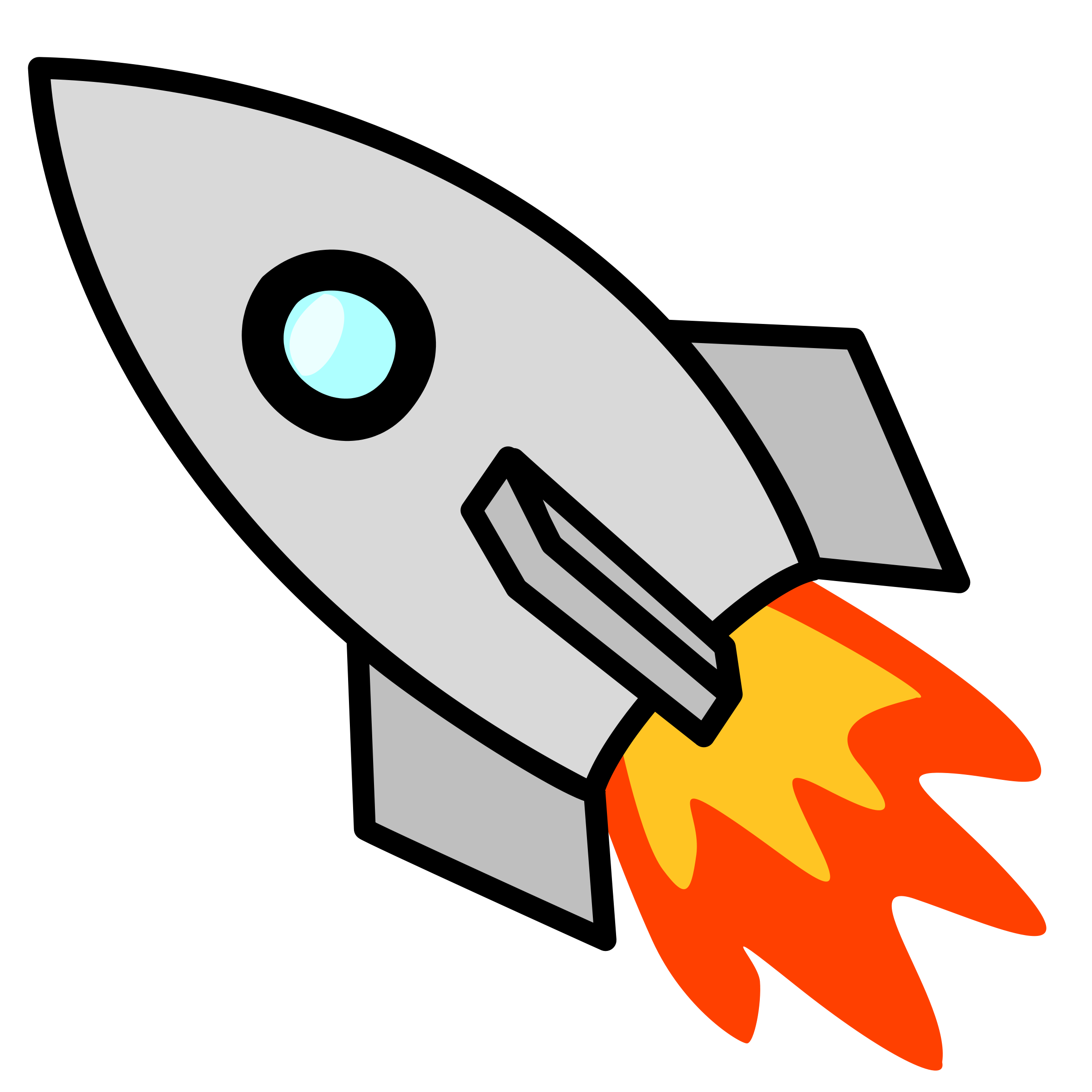 collection of paper. Clipart rocket launching pad
