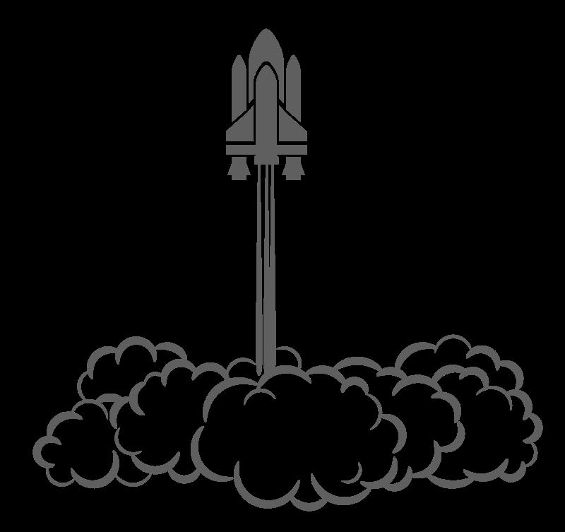 Clipart rocket line art. Ship launch
