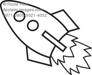 Clipart rocket line art. Ship clip panda free