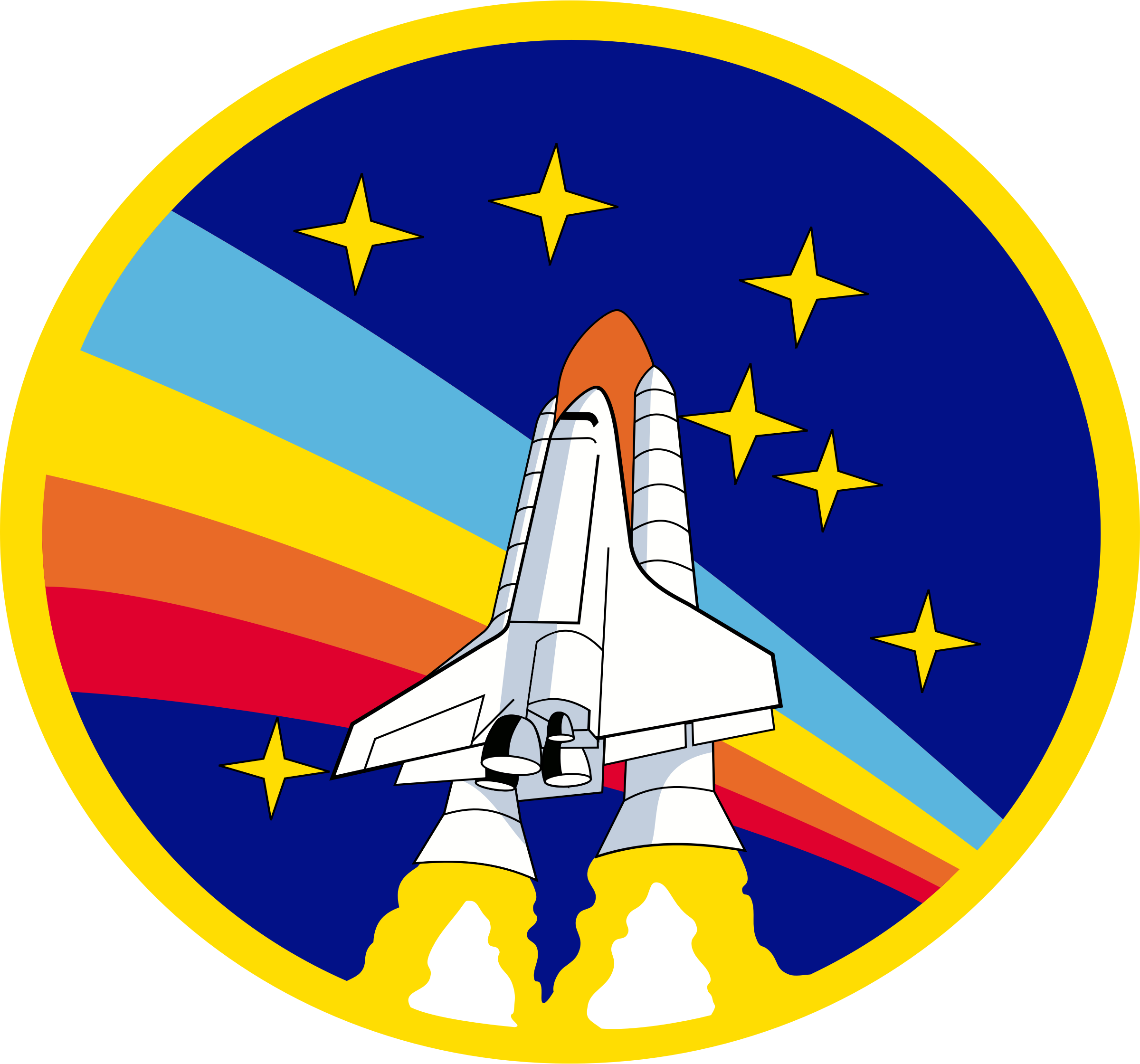 Rainbow shuttle big image. Clipart rocket logo