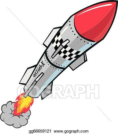 Clipart rocket missle. Vector stock missile illustration