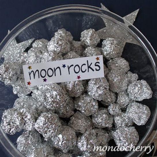 Simple idea for rocks. Clipart rocket moon rock