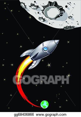 Clip art vector spaceship. Clipart rocket moon rocket